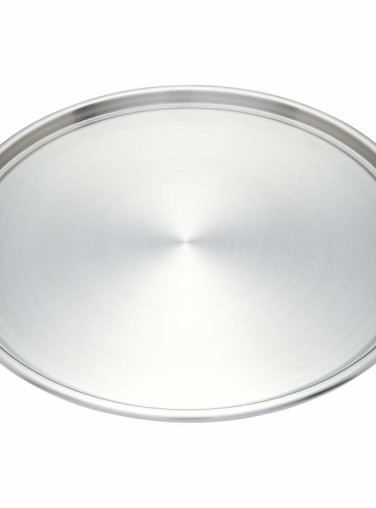 Maxam Round Stainless Steel Pizza Pans Set