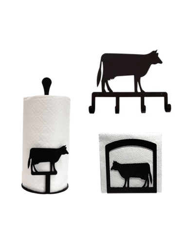 Dairy Cow Kitchen Decor Combo Set